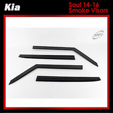 New Smoke Side Window Vent Visors Deflector Guards for Kia Soul 2014 2017