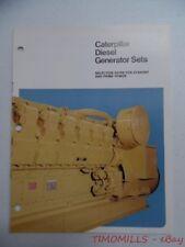 c.1975 Caterpillar Diesel Generator Sets Industrial Brochure Vintage Original VG