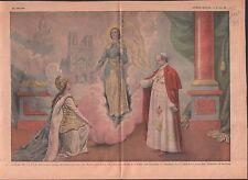 PIE PIUS XI POPE PAPE SAINT JEANNE D'ARC PATRONNE FRANCE  ILLUSTRATION 1939