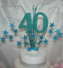 0054 CAKE TOPPER 18TH 21ST 30TH 40TH 50TH CAKE DECORATION STAR BURST CAKE SPRAY