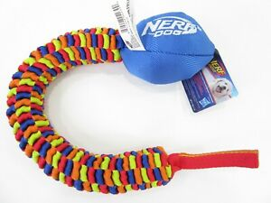 Nerf Vortex Small Dog Toy 19 in Braided Chain Bungee Pull Rope Tug Of War NWT