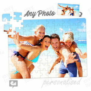 Personalised PHOTO Jigsaw Puzzle Custom Picture or Logo - Birthday Leaving Gift