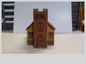 HO Vintage Built Wood & Cardboard Church