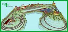 Piko H0 A-Gleis Gleisplan A5 für Anlagenplanung, HO, Set 3,3 x 3,5 m