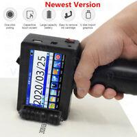 Portable Handheld Inkjet Printer 600DPI For Date Word QR Logo Printing 2-12.7mm