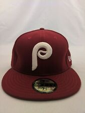 New Era Phillies Cardinal Fitted Cap Size 7 1/2