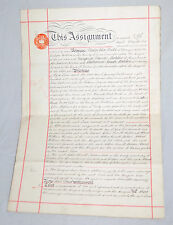 PHILIP VERE BROKE  *Signed  Lease Manuscript Document - England 1927