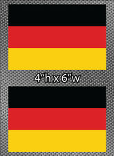 "2x German Flag 6"" Sticker Vinyl Die Cut Decals graphic Germany Free Shipping"
