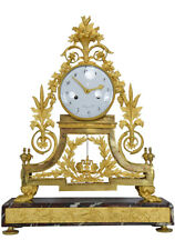 Pendule RIDEL. Kaminuhr Empire clock bronze horloge antique cartel napoleon