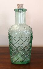 Libbey Green Tint Embossed Grapes Lattice Bottle With Cork