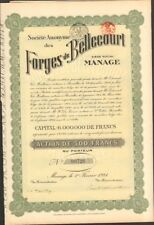 FORGES de BELCOURT (MANAGE BELGIQUE) (U)