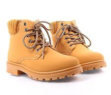 Tan nn Fashion Ankle High Lace Up Womens Combat Boots Military Shoes Size 8