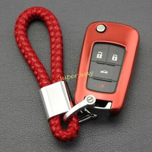 Red Flip Key Fob Chain Ring Case Cover For Holden Cruze Malibu Trax Accessories
