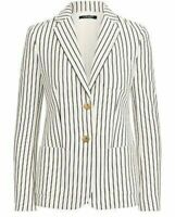 Condition:New Lauren Ralph Lauren Womens Plus Striped Double-Breasted Two-Button