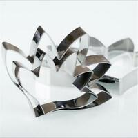 3pcs Flower Leaf Stainless Steel Biscuit Pastry Cookie Cutter Cake Mold  MA