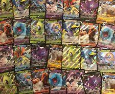 "POKEMON CARD LOT 100 REAL CARDS - GUARANTEED 1 SWSH ""V"" CARD & RARES POKEMON TCG"
