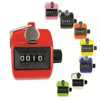 Digital Hand Held Tally Clicker Counter 4 Digit Number Clicker Golf Chrome