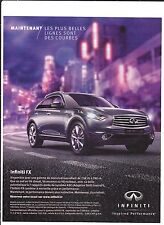 INFINITI  Pub de Magazine Magazine advertisement.2012. paper