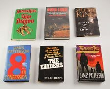Lot Of 6 Hardcover  Books Stephen King James Patterson Leo Heaps Hughes  AA4Y5