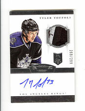 13-14 Panini Dominion Tyler Toffoli Rookie 269/299 Auto+Patch 3CLRs L.A Kings