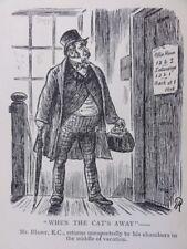 Diritto, Parrucca e tunica, barrister quando il gatto' AWAY ANTICO punzone CARTOON