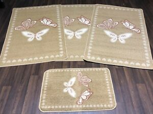 ROMANY GYPSY WASHABLES NEW BUTTERFLYS LOVE HEARTS NON SLIP BEIGES 2018