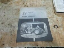 John Deere 47 Front End Loader Operators Manual Book Om C17106