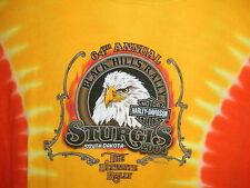 Ladies Shirt Harley Davidson Motorcycle Sturgis South Dakota Tie Dye Eagle NICE