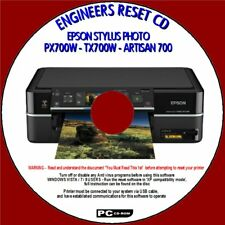 EPSON PX700W TX700W ARTISAN 700 PRINTER WASTE INK FULL ENGINEERS RESET PC CD NEW