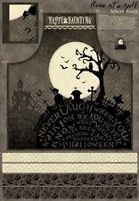 "Halloween Graveyard Apron Cotton Fabric Wilmington Sit A Spell 29""X44"" Panel"