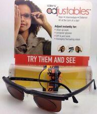 ADLENS SUNDIALS Adjustables Sunglasses Rx range +3.00 to -6.00 Black /Brown Lens