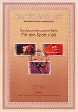BRD ETB 6-88 MiNr 1353-1355 Sporthilfe 88: Olympische Sommerspiele-Turmspringen
