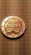 2 Euro Slovensko 2009 Moneta con errori difetti defect Coin