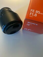 Sony SEL 85mm F/1.8 FE Lens with UV filter