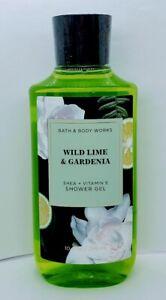 Bath and Body Works Wild Lime & Gardenia Shower Gel 10 fl oz NEW