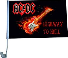 Flag rock band ACDC mount for car 30x45 cm