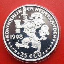 Netherlands-Niederlande: 25 ECU 1998 Silber Proof Coin, #F1635, rare
