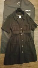 Authentic Chanel Dress w/Belt & Chain/Plaid Buttons Size 40 - $3800