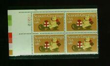 US Stamps #1940 20c CHRISTMAS 1981 BEAR & SLEIGH VF MNH PLATE BLK 4