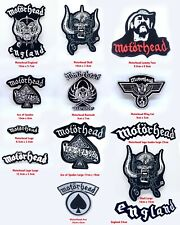 More details for motorhead rock music band badges collection iron on sew on embroidered patch