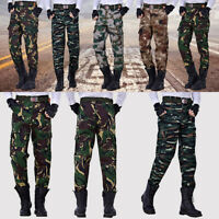Men Military Army Camouflage Casual Pants Outdoor Camping Fishing Game Work Pant