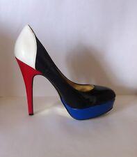 Noir colour block court shoes, UK size 6