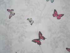 4 Metres Sanderson Wisteria & Butterfly Curtain Fabric Design Fuchsia