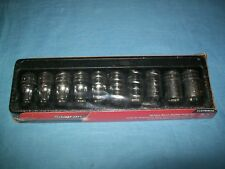"NEW Snap-on™ 1/2"" drive 10 thru 19 mm 6point Shallow Socket Set 310TWMYA SEALed"