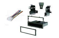 Single DIN Install Car Stereo Dash Kit W/ Wiring harness for Select 86-UP Honda