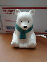 Pillowfort Nightlight Polar Bear White Target Ceramic Light mint  condition see