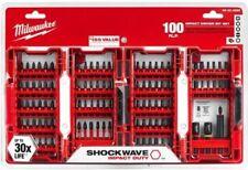 100-Piece Shockwave Impact Driver Bits Set Durable Steel Screwdriver Drill Bit