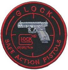 GLOCK Iron On Stoffaufnäher - Safe Action Pistols 01