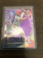 Odubel Herrera Purple Base 136/250 From 2017 Bowman Platinum