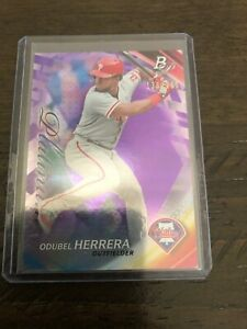 Odubel Herrera Purple Base 136/250 From 2017 Bowman Platinum